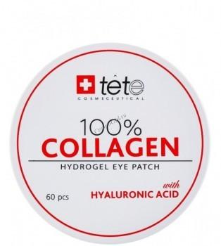 Tete Cosmeceutical 100% Collagen Hydrogel  Eye Patch (Гидроколлагеновые патчи для глаз с гиалуроновой кислотой), 60 шт - купить, цена со скидкой
