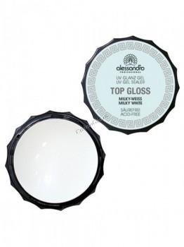 Alessandro Top gloss gel white (Гель для наращивания и моделирования ногтей белый), 15 г - купить, цена со скидкой