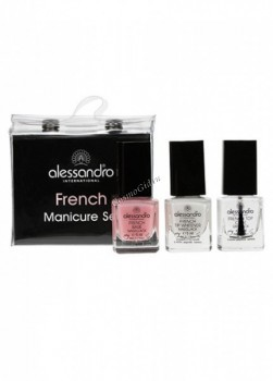 Alessandro French Manicure Set (Набор для французского маникюра 3х5 мл), 1 шт - купить, цена со скидкой