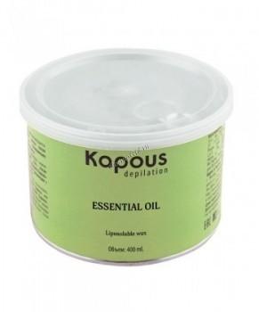 Kapous Жирорастворимый воск с эфирным маслом лицеи кубеба  в банке, 400 мл. - купить, цена со скидкой
