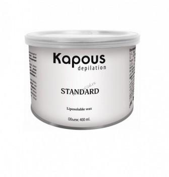 Kapous Горячий воск розовый с диоксидом титаниума в банке, 400мл. - купить, цена со скидкой