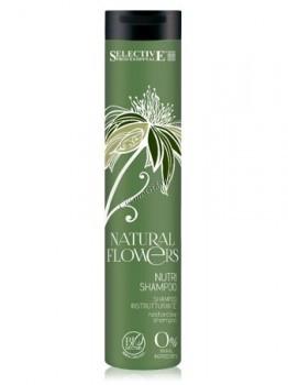 Selective professional natural flowers nutri shampoo (Шампунь питательный для восстановления волос) - купить, цена со скидкой