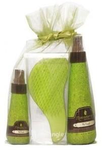 Macadamia Natural Oil Набор: крем-мусс 250 мл, уход восст. с маслом арганы и макадамии, гребень - купить, цена со скидкой