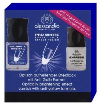 Alessandro Express Nail Hardener, Pro White (Набор для укрепления ногтей), 2 средства - купить, цена со скидкой