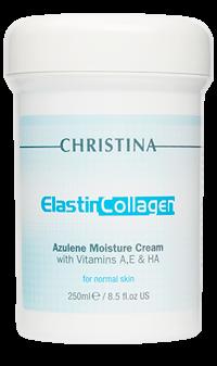 Christina / Elastin Collagen Azulene Moisture Cream (Увлажняющий азуленовый крем с коллагеном и эластином для нормальной кожи), 250 мл. - купить, цена со скидкой