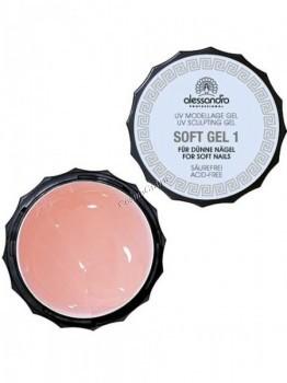 Alessandro Soft gel 1 (Однофазный моделирующий гель для мягких и тонких ногтей), 15 г - купить, цена со скидкой