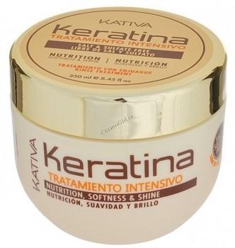 Kativa Keratina (Интенсивная восстанавливающая маска с кератином для поврежденных и хрупких волос) - купить, цена со скидкой