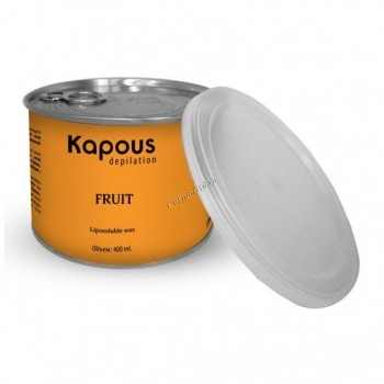 Kapous Жирорастворимый воск с ароматом кокоса в банке, 400 мл. - купить, цена со скидкой