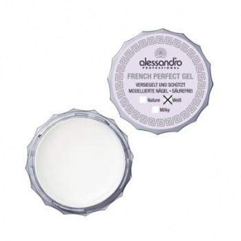 ALESSANDRO  French Gel Гель белый для французского маникюра прозрачно-белый 7,5мл  - купить, цена со скидкой