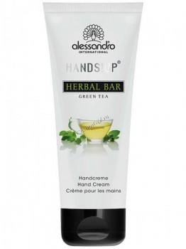 Alessandro Herbal bar green tea hand cream (Ароматерапевтический увлажняющий крем для рук Зеленый чай), 75 мл - купить, цена со скидкой