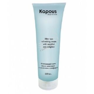 Kapous  Освежающий крем после депиляции с ментолом и камфорой, 250 мл. - купить, цена со скидкой