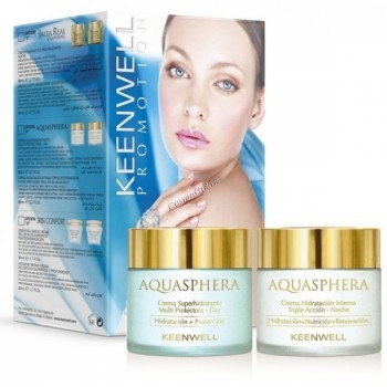 Keenwell Aquasphera Дневной и ночной крем в наборе, 2 средства - купить, цена со скидкой
