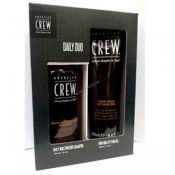 """American Crew Подарочный набор """"Daily duo"""" (Увлажняющий шампунь и гель сильной фиксации), 2 средства. - купить, цена со скидкой"""
