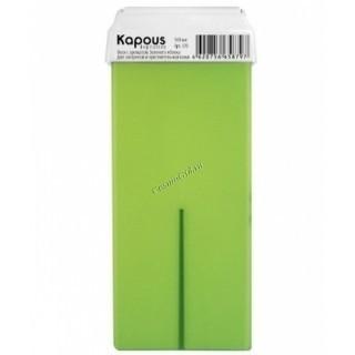 Kapous Жирорастворимый воск с ароматом зеленого яблока в картридже, 100 мл. - купить, цена со скидкой