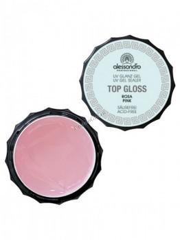 Alessandro Top gloss gel pink (Гель для наращивания и моделирования ногтей розовый), 100 г - купить, цена со скидкой