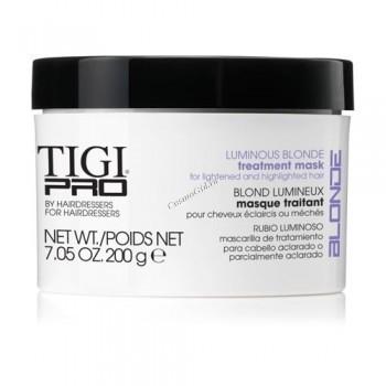 Tigi Pro luminous blonde treatment mask (Маска для осветленных волос), 200 г. - купить, цена со скидкой