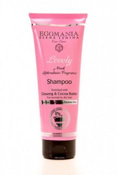 EGOMANIA Шампунь с женшенем и маслом какао для нормальных и сухих волос, 250 мл - купить, цена со скидкой