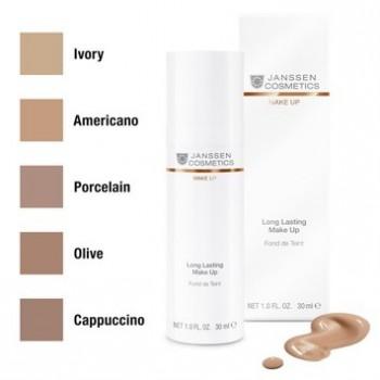JANSSEN Long Lasting Make-Up Стойкий тональный крем с SPF-12(капучино) 30 мл - купить, цена со скидкой