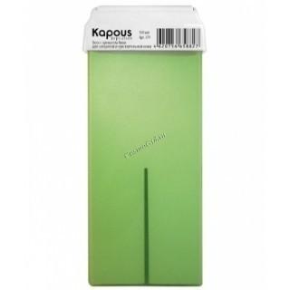 Kapous Жирорастворимый воск с ароматом киви в картридже, 100 мл. - купить, цена со скидкой