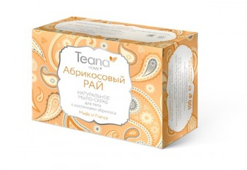 Teana / Натуральное мыло-скраб для лица и тела с косточками абрикоса/ «Абрикосовый рай», 100 гр - купить, цена со скидкой