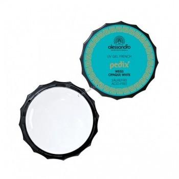 Alessandro French gel white (Гель для моделирования ногтей в педикюре, белый, для французского педикюра), 7.5 г - купить, цена со скидкой