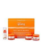 Christina / Forever Young Face, Neck & Decollete Kit (Набор препаратов для ухода за кожей лица, шеи и декольте), 4 препарата. - купить, цена со скидкой
