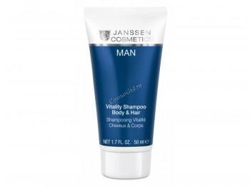 Janssen Vitality shampoo body & hair (Стимулирующий шампунь для волос и тела), 50 мл - купить, цена со скидкой