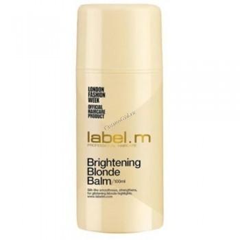 Label.m Brightening blonde balm (Бальзам осветляющий для блондинок), 100 мл - купить, цена со скидкой