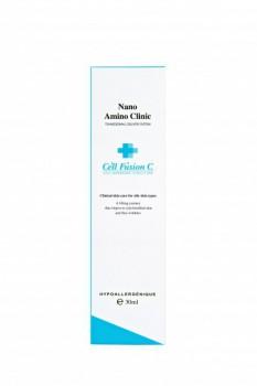 Cell Fusion C Nano amino clinic (Восстанавливающая  и увлажняющая  сыворотка для жирной кожи), 30 мл. - купить, цена со скидкой