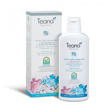 """Teana  """"Р2"""" Пенка с лактоферрином для умывания, 150 мл. - купить, цена со скидкой"""