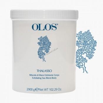 Olos Exfoliating sea blend body (Морская смесь для эксфолиации для тела), 250гр - купить, цена со скидкой