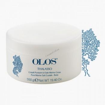 Olos Pure marine salt crystals (Чистейшая кристаллическая морская соль для ухода за телом), 550мл. - купить, цена со скидкой
