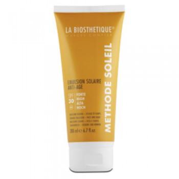 La biosthetique skincare emlsion solaire anti-age spf-15 (Водостойкое солнцезащитное молочко для лица и тела с высокоэффективной системой фильтров), 75 мл - купить, цена со скидкой
