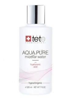 Tete Cosmeceutical Aqua pure micellar water (Мицелллярная вода с гиалуроновой кислотой), 200 мл. - купить, цена со скидкой