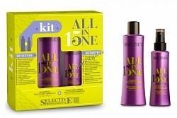 Selective Professional all in one set (Шампунь + маска-спрей для окрашенных волос) - купить, цена со скидкой