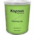 Kapous Жирорастворимый воск с с эфирным маслом петит-грея в банке, 800мл. - купить, цена со скидкой