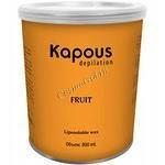 Kapous Жирорастворимый воск с ароматом зеленого яблока в банке,  800мл. - купить, цена со скидкой