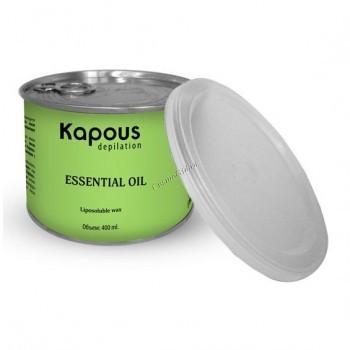 Kapous Жирорастворимый воск с с эфирным маслом петит-грея в банке, 400 мл. - купить, цена со скидкой
