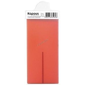Kapous Горячий воск розовый с диоксидом титаниума в картридже c мини роликом, 100 мл. - купить, цена со скидкой