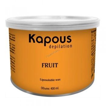 Kapous Жирорастворимый воск с ароматом зеленого яблока в банке, 400 мл. - купить, цена со скидкой