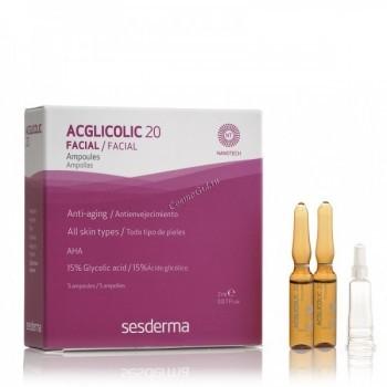 Sesderma Acglicolic 20 Ampoules (Ампулы с гликолевой кислотой), 5 шт по 2 мл. - купить, цена со скидкой
