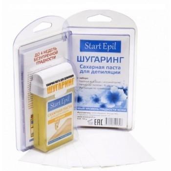 Aravia Набор: сахарная паста в картриджах «Мягкая», 100 гр. + бумажные полоски для депиляции - купить, цена со скидкой