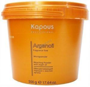 Kapous   Обесцвечивающий порошок с маслом арганы для волос серии «Arganoil», 500 г. - купить, цена со скидкой