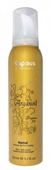 Kapous Мусс нормальной фиксации с маслом арганы «Arganoil», 150 мл. - купить, цена со скидкой