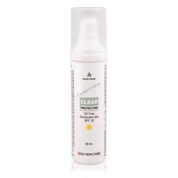 Anna Lotan A-clear oil free sunscreen gel (Солнцезащитный гель Ойл Фри спф25), 50 мл. - купить, цена со скидкой