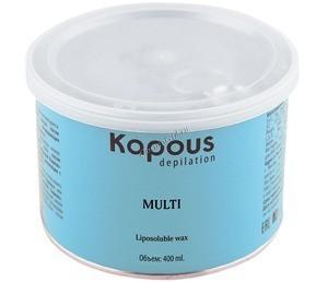 Kapous Воск жирорастворимый в банке  «Silver» для спортсменов и мужчин, 400 мл. - купить, цена со скидкой