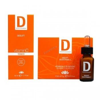 Dermophisiologique Biovitamin C + toner (3 флакона витамина С + тоник 50 мл) - купить, цена со скидкой