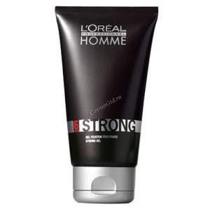 L'Oreal Professionnel Homme Strong Gel (Гель для укладки Стронг), 150 мл. - купить, цена со скидкой