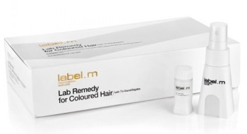 Label.m Lab remedy for coloured hair (Сыворотка для окрашенных волос), 24 шт по 10 мл - купить, цена со скидкой