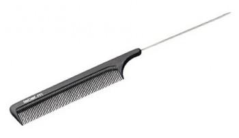 Label.m Расчёска с металлическим хвостиком карбон антистатик - купить, цена со скидкой